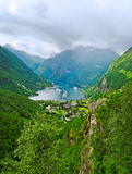 View to the fjord. Stock Photo