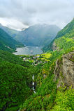 View to the fjord. Royalty Free Stock Images