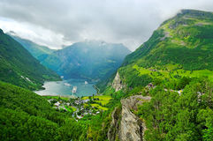 View to the fjord. Stock Image