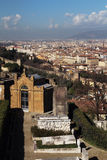 View to Florence from San Miniato al Monte Stock Photography