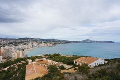 Salt lake of Calpe. View to former salt lake of Calpe, Alicante, Spain from the mountain Ifach Stock Photography
