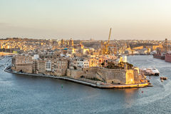 View to Fort Saint Angelo from Upper Barrakka Gardens Royalty Free Stock Photo