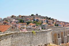 Kavala fortress, Greece. stock images