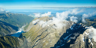 View on to Fox Glacier in South New Zealand Royalty Free Stock Images