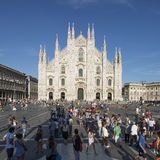 View to the front of the Milan Cathedral Royalty Free Stock Image