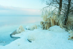 View to frozen beach Stock Photography