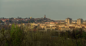 View to the Gardos tower over the rooftops Stock Photography