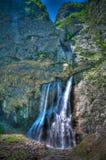 View to Gega waterfall and river in Abkhazia, Georgia stock image