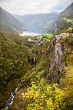 View to Geiranger fjord Norway Stock Photography