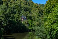 View to the german river Lahn Stock Images