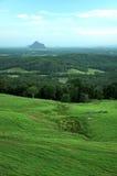 View to Glasshouse Mountains. The view toward the Glass house mountains toward the coast Stock Photography