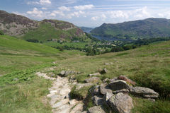 View to Glenridding and Ullswater Stock Photo