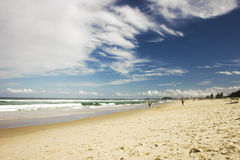 View to Gold Coast beach in Australia Stock Photography
