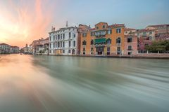View to the grand canal and Academy in Venice Royalty Free Stock Photography