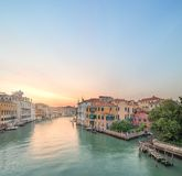 View to the grand canal and Academy in Venice Royalty Free Stock Photos