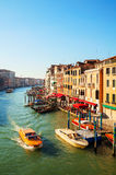 View to Grand Canal in Venice, Italy Stock Images