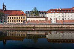 View to Grodzka street and Odra river. Wroclaw. Stock Photo