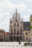 View to Grote Markt square. A panoramic view to Grote Markt square , on June 07, 2012 in Mechelen, Belgium.Mechelen (Mechelen, the population 75.000) is on the Royalty Free Stock Image