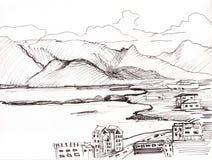 View to gulf Reykjavik Stock Image