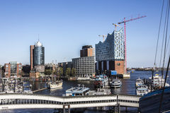 View to the Hafencity Royalty Free Stock Image