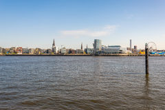 View to the HafenCity from the harbor side Hamburg Royalty Free Stock Photos