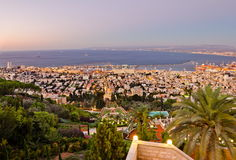 View To Haifa In Israel During Sunset Royalty Free Stock Photography