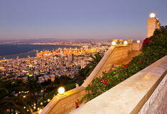 View to  Haifa in Israel during sunset Stock Photography