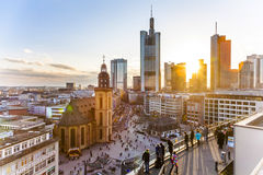 View to Hauptwache with Kathrin Church Stock Image