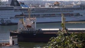 View to Havana harbour stock video footage