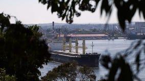 View to Havana harbour stock footage