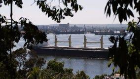 View to Havana harbour stock video