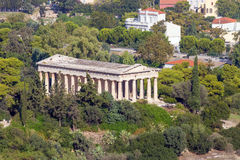 View to Hephaestus Temple from Acropolis, Athens, Greece Royalty Free Stock Photo