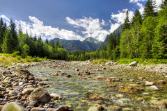 View to High Tatras, Slovakia Stock Image