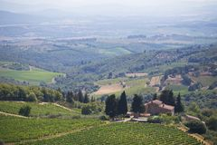 View to the hills of Tuscany Royalty Free Stock Images