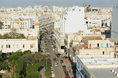 View to the historical city center of Sfax in Sfax, Tunisia. Royalty Free Stock Photos