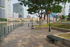 View to the historical quay in Singapore, Singapore. Royalty Free Stock Photo