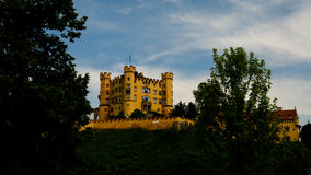 View to Hohenschwangau castle, Bayern, Germany Royalty Free Stock Photos