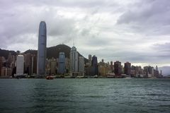 View to Hong Kong from Kowloon. Royalty Free Stock Images