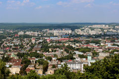 View to the house-tops in Lvov city Stock Photos
