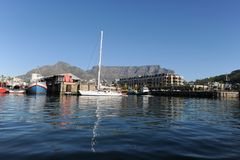 View to the iconic Table Mountain royalty free stock images