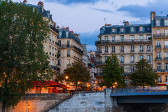 View to the Ile Saint Louis in Paris, France Royalty Free Stock Photography