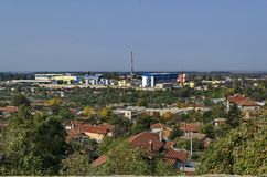 View to industrial part of Ruse town Stock Photos