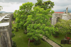 View to the inner yard of the Santiago Apostol cathedral ruins in Cartago, Costa Rica. Royalty Free Stock Photography