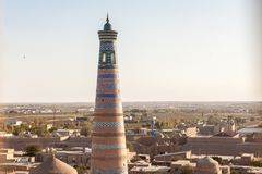View to Islom-Hoja Minaret stock photos