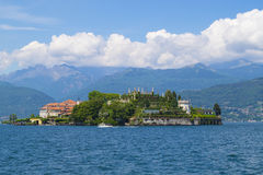 View to Isola Bella - boat. View to Isola Bella, Stresa, Italy Stock Photos