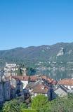 View to Isola San Giulio at Lake Orta,Italy Stock Photo