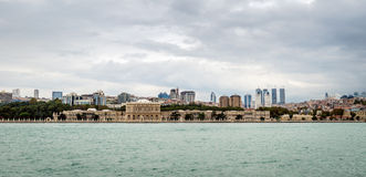View to the Istanbul from Bosphorus in Turkey stock photo