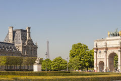 View to Jardin des Tuileries. Royalty Free Stock Photography
