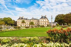 View to the Jardin du Luxembourg in Paris, France.  royalty free stock images