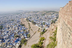 View to Jodhpur city from Mehrangarh Fort, India Stock Images
